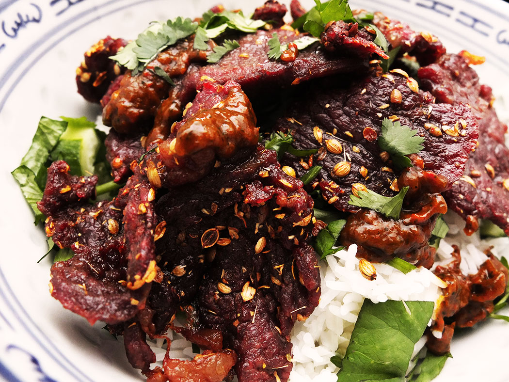 salted and deep-fried beef